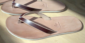 handmade leather flip flop